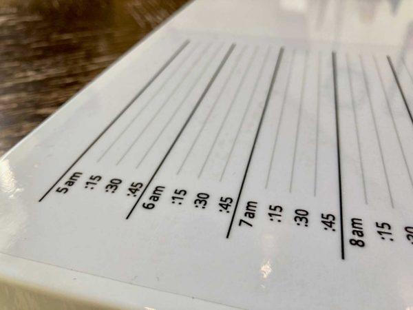 TACTiLED Transparent Vinyl Schedule Sticker